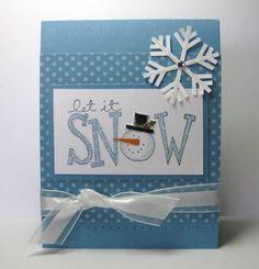 Marina Mist Snowman Card