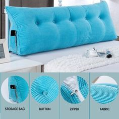 Image 5 of 6 Slipcovered Headboard, Pillow Headboard, Lumbar Pillow, Bed Pillows, Sofa Bed, Bed Wedge Pillow, Bed Rest Pillow, Diy Sofa, Bed Backrest