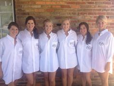 Bride/Bridesmaids Oversized Monogrammed by monogrammadness12, $26.00  What a wonderful idea for bridesmaids!  love it