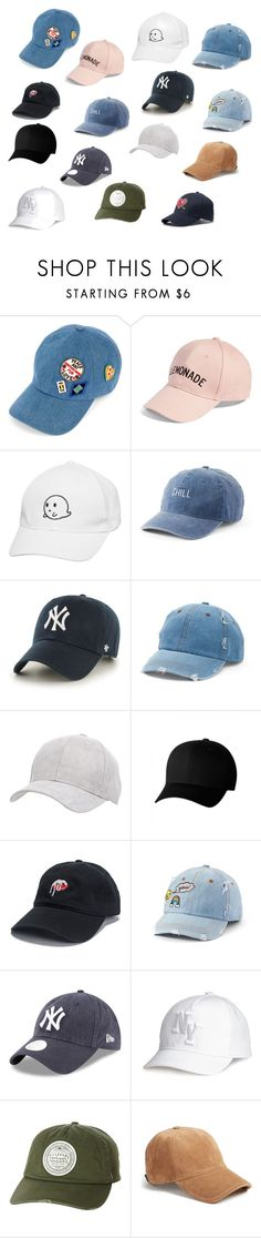 """""""Tumblr Hats"""" by brauerisabelle on Polyvore featuring Tommy Hilfiger, Amici Accessories, SO, '47 Brand, Mudd, Charlotte Russe, Flexfit, Billabong and rag & bone"""