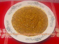 Τα φαγητά της γιαγιάς - Φακόρυζο ή φακές με ρύζι σούπα Greek Recipes, Palak Paneer, Favorite Recipes, Ethnic Recipes, Lent, Food, Rice, Drinks, Kitchens