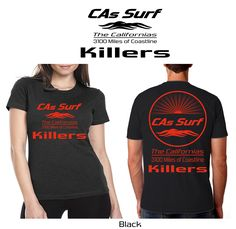 California T-Shirts - Killers at Isla Todos Santos, Baja California | Available for Retail Stores! Choose both your locale - from 3100 miles of coastline - and custom shirt/print color combos from a wide selection - Inquiries: info@GoCalifornias.com