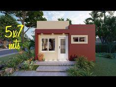 Casa de 5x7 metros - YouTube Big Modern Houses, Small Modern House Plans, Best House Colors Exterior, House Paint Exterior, House Front Design, Small House Design, Small Loft Apartments, Small Room Design Bedroom, Cafe Exterior