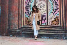 Street Style: Oversized Coat & Shredded Denim