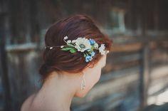 gorgeous hair flower wedding vintage
