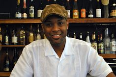 """Craig Samuel, co-owner of Peaches Restaurant. Peaches Restaurant specializes in serving southern American cuisine. Its award-winning menu includes Crispy Fried Chicken, juicy Turkey Meatloaf, fresh Crabcakes, and the """"Brickhouse"""" Roast Half Chicken. Complete the meal with Sweet Potato Fries, collard greens, kale, and more. A recommended tip for the summer: Peaches participates in BedStuy's Farmshare, in which daily specials incorporate local ingredients.   393 Lewis Avenue Brooklyn, NY…"""