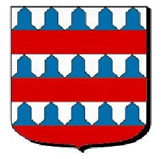 """Barry of six, vair and gules"", the coat-of-arms of Coucy - Sieurs de Coucy"