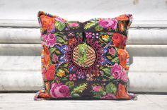 Gorgeous Floral Huipil Pillow Case, Perfect Floral Pillow Case, Guatemala Pillow Case, Colorful Decorative Pillow Case, Boho Pillow Case by Tienditaboutique on Etsy https://www.etsy.com/listing/462793762/gorgeous-floral-huipil-pillow-case