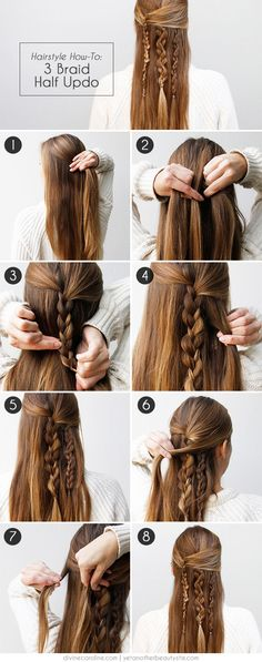 Boho Braid: How to Create an Effortlessly Chic Half Updo Tutorial Step by Step here: http://www.divinecaroline.com/beauty/hair/boho-braid-how-create-effortlessly-chic-half-updo