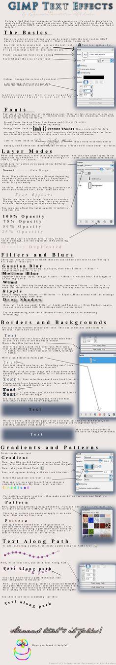 http://www.deviantart.com/art/GIMP-text-tutorial-103425537