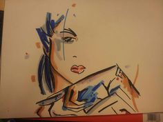 Abstract Woman, Markers