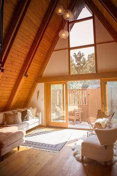 would love a bedroom with this much natural light!