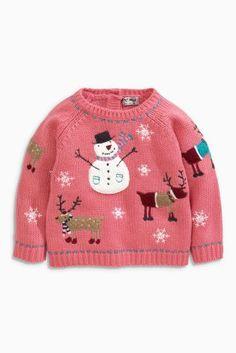 Kaufen Sie Pink Xmas Pink Snowman Jumper (3 Monate – 6 Jahre) heute online bei Next: Deutschland