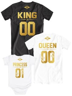 Family t-shirts King Queen Princess 01, Father Mother Princess shirts, Matching family shirts with numbers on the back, Golden letters design, Matching shirts with custom number, Mom Dad Son shirts, matching family tees, Familie t-shirts, Paar t-shirts, family photoshoot, family photos, family photoshoot ideas, engagement photoshoot ideas, family goals, anniversary photoshoot ideas