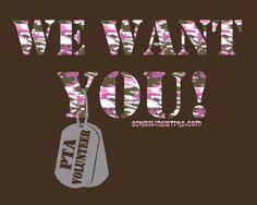 PTA Volunteer T-shirt - Love this!