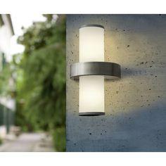 2X2,5W LED max Eglo Aussen-LED MORINO weiss
