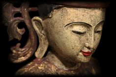 Extremely Rare 19C Wood Sitting Shan Burma Buddha #BB167