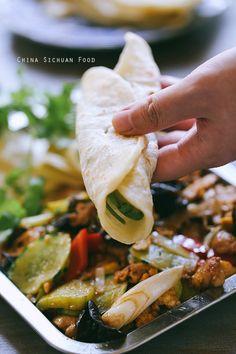 Moo Shu Pork – & see pin for Moo Shu pancakes http://www.chinasichuanfood.com/chinese-mandarin-pancake/