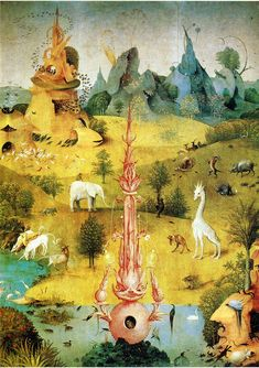 HIERONYMUS BOSCH. The Garden of Earthly Delights (detail), 1500-1505, oil on panel.