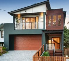 Charcoal, Neutral Beige and Warm Merbau Timber Exterior Colour Scheme This is one of my Favourite Exterior Colour Schemes