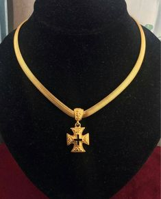 Anne Klein, Medieval Jewelry, Maltese Cross, Vintage Jewelry, Unique Jewelry, Amethyst Earrings, Types Of Fashion Styles, Cross Pendant, Small Businesses
