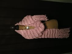 Pretty in pink, GIANT Scarf by Go-Girl Knitting
