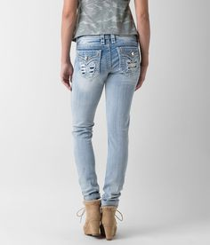 ROCK REVIVAL Damen Jeans ANAIS S7 Skinny schwarz-W26