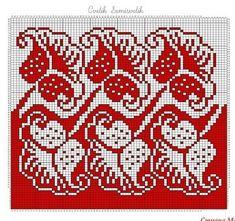 Cross Stitch Borders, Cross Stitch Flowers, Cross Stitch Designs, Cross Stitching, Cross Stitch Embroidery, Hand Embroidery, Cross Stitch Patterns, Fair Isle Knitting Patterns, Crochet Stitches Patterns