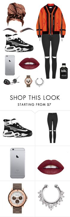 """""""cyber ghetto"""" by normatheartist ❤ liked on Polyvore featuring NIKE, Topshop, L.A. Girl and Bulova"""
