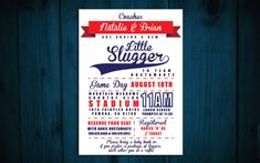 Printable Little Slugger Baby Shower Invitation- Baseball theme birthday Baseball Theme Birthday, Baseball Party, Best Friends Funny, Paper Size, Baby Shower Invitations, Rsvp, Clip Art, Printables