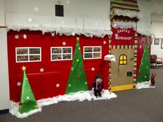Santa's Workshop door decorations or rather wall decorations! I think we did great!!! Love it!!!