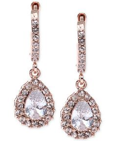 Givenchy Rose Gold-Tone Silk Teardrop Earrings - Jewelry & Watches - Macy's