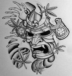 Samurai Mask Tattoos Samurai Mask And Japanese Maple By 814ck5t4r