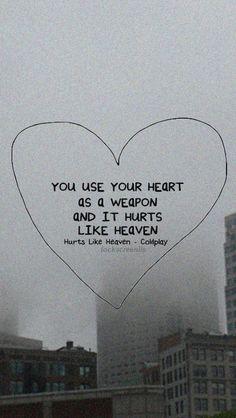 Wallpaper Lockscreen Hurts Like Heaven Coldplay (lyrics)