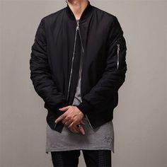 2016 Fashion Men Bomber Jacket-Hip Hop Slim Fit Baseball Coat