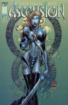 Women by David Finch | Dave Finch And Batt - Blue Woman - Woman Holding Sword - Woman In ...