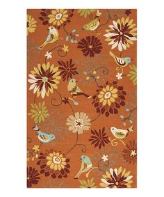 Another great find on #zulily! Moss Floral Rain Indoor/Outdoor Rug #zulilyfinds