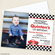 Paper goods and DIY printables for parties and holidays Race Car Party, Race Cars, Photo Birthday Invitations, Large Photos, Youre Invited, Paper Goods, Racing, Digital, Holiday