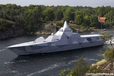 "The Sweden Visby-class corvettes stealth craft, can cruise at 35 knots (40 m.p.h.) and are ""electronically undetectable"" at distances ranging from 8 to 13.5 miles."