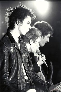 Sex Pistols on stage.