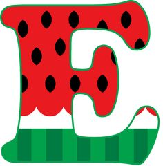 Letter E, Paper Crafts, Diy Crafts, Diy For Kids, Christening, Watermelon, Printables, Happy, Ideas Aniversario