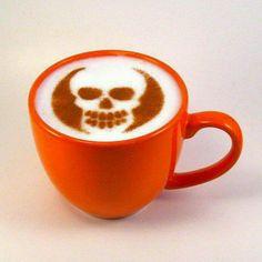 Skull coffee art
