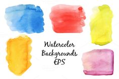 Watercolor vector backgrounds by alexandra.dzh on Creative Market