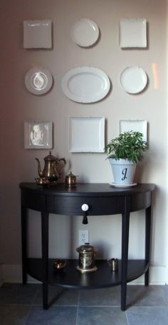 Kmart Martha Stewart Table Makeover with Plate Display - Laurie Jones Home