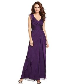 Adrianna Papell Tiered Evening Dress - Shop all Wedding Dresses - Women - Macy's