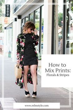 How to mix prints: florals & stripes - relmstyle