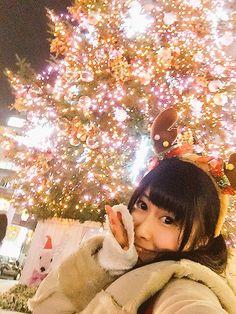Pippi and Christmas lights