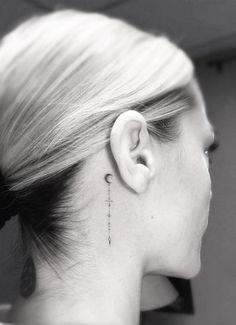 Dr. Woo Tattoo Artist   Half Needle Tattoo   Moon                                                                                                                                                                                 More