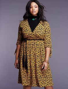 Printed Wrap Dress | Into the Groove Collection | Women's Plus Size Fashion | ELOQUII