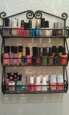 Nail polish rack.